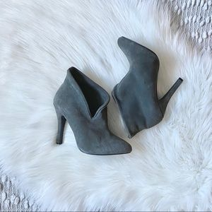 Grey High Heel Ankle Boots